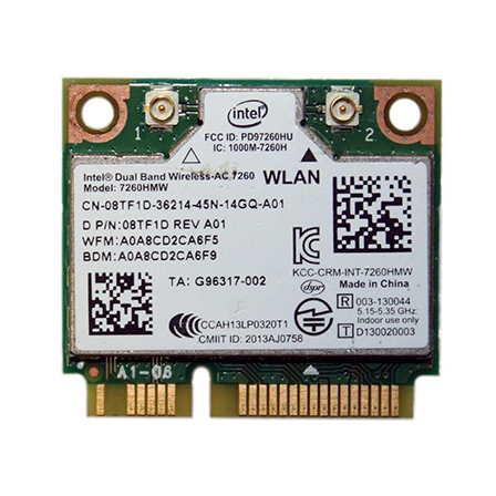 Intel AC 7260 WiFI/BT half minicard