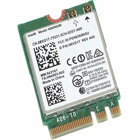 Intel 8260AC WiFi + Bluetooth, M.2 þráðlaust kort
