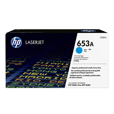 Color laserjet 653A cyan toner cartridge