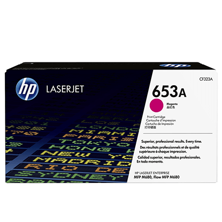 Color laserjet 653A magenta toner cartridge